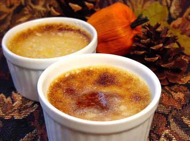Crème brûlée met pompoenpuree